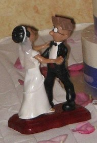 Nick and Ki Wedding Cake Topper